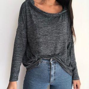 Easel charcoal gray oversized sweatshirt S
